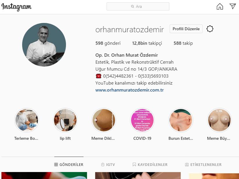 op. dr. orhan murat özdemir instagram